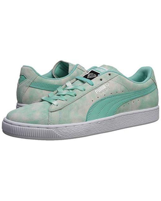 online store 9b547 9e6d7 Men's Suede Supply Sneaker, Diamond Blue, 10 M Us
