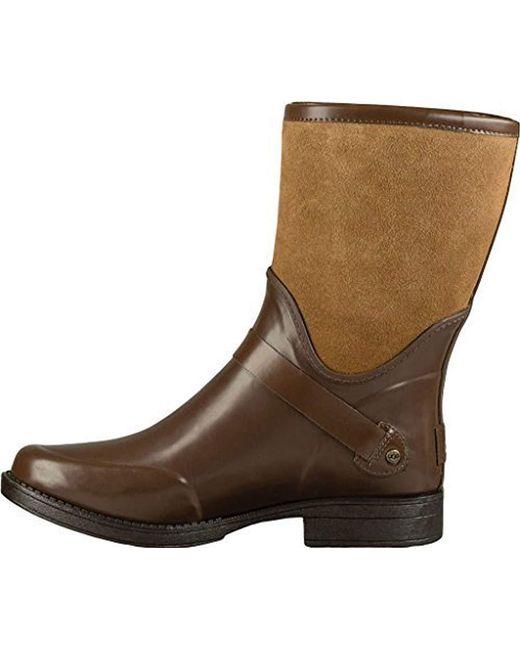 Ugg - Brown Sivada Rain Boot - Lyst