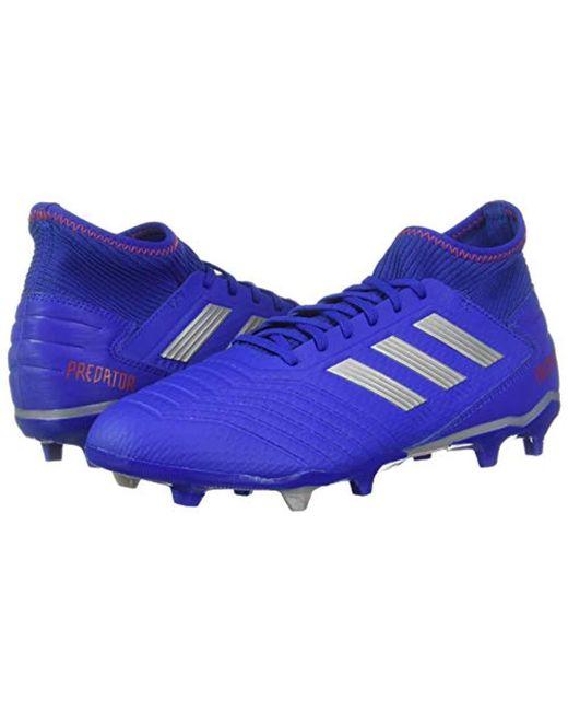 half off f584e 5222a ... Adidas - Blue Predator 19.3 Firm Ground Soccer Shoe for Men - Lyst ...