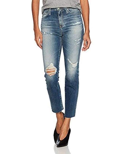 AG Jeans Blue Phoebe Vintage High Rise Jean