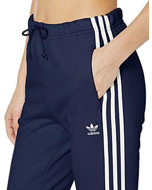 Women's Blue Regular Cuffed Track Pants
