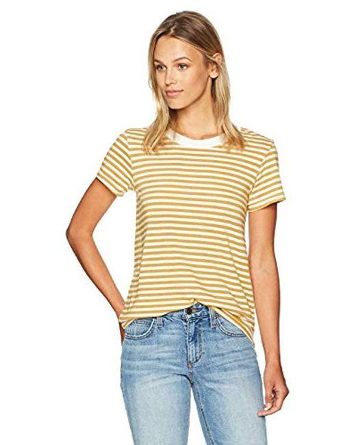 Stateside - Multicolor Mustard Stripe S/s Tee - Lyst