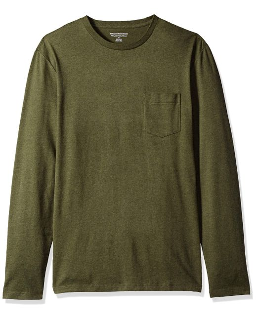 Essentials Mens Slim-Fit Long-Sleeve Pocket T-Shirt