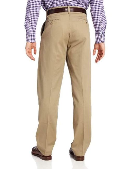 1056ff56 ... Lee Jeans - Natural Stain-resistant Relaxed-fit Pleated Pant for Men -  Lyst
