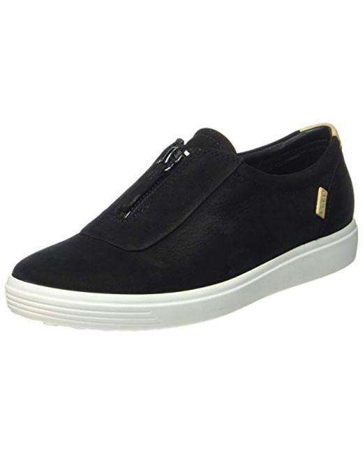 Ecco Black Soft 7 Ladies Low-top Sneakers