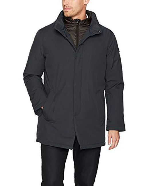 Tumi - Blue Water Repellent Commuter Jacket With Removable Vest for Men - Lyst