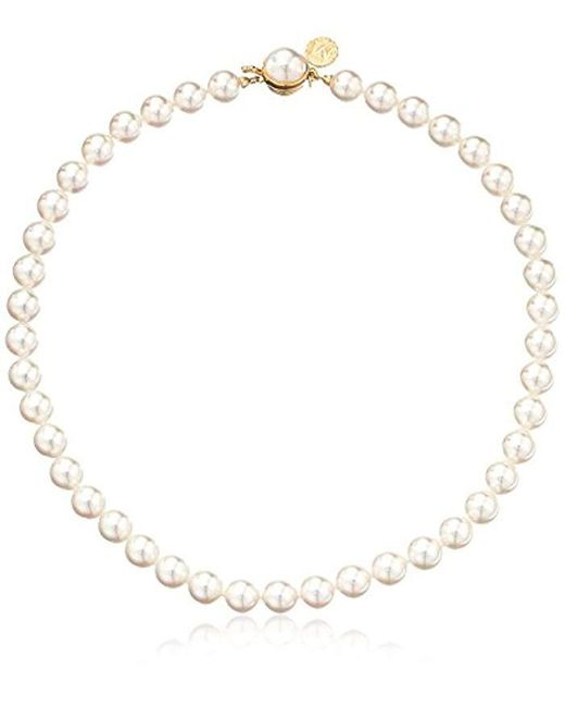 Majorica - White S 1 Row 8mm Pearl Necklace - Lyst