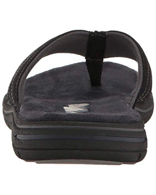 2a9834b5c584 Lyst - Skechers Evented Rosen Flip Flop in Black for Men - Save 10%