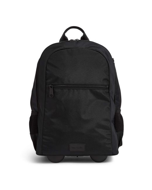 Vera Bradley Black Recycled Lighten Up Reactive Slim Rolling Backpack Bookbag