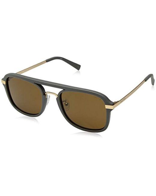 Nautica Gray N4628sp N4628sp-014 Polarized Aviator Sunglasses, Matte Grey, 56 Mm for men