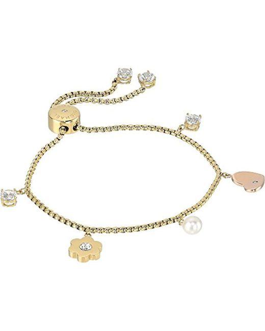 Michael Kors - Metallic S In Full Bloom Multi Charm Slider Bracelet - Lyst