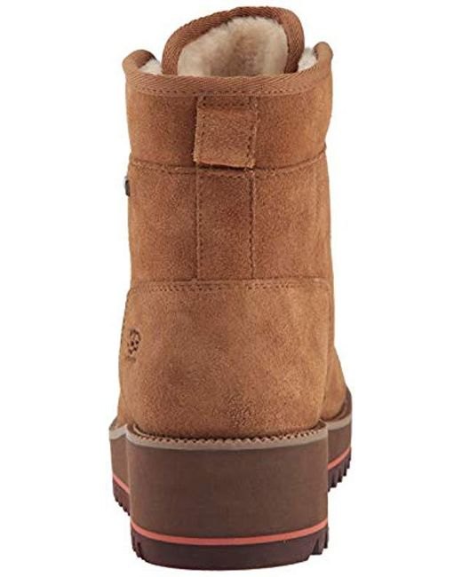 42918d0e9087 ... authentic ugg brown w birch lace up snow boot lyst dc13d d5489
