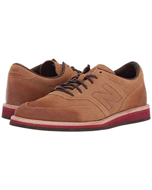 good service ever popular order online New Balance Leather 1100v1 Walking Shoe in Brown/Maroon ...