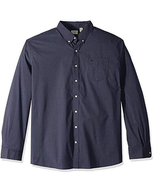 Dockers - Blue Big And Tall Bt Comfort Stretch No Wrinkle Long Sleeve Buttonfront Shirt for Men - Lyst