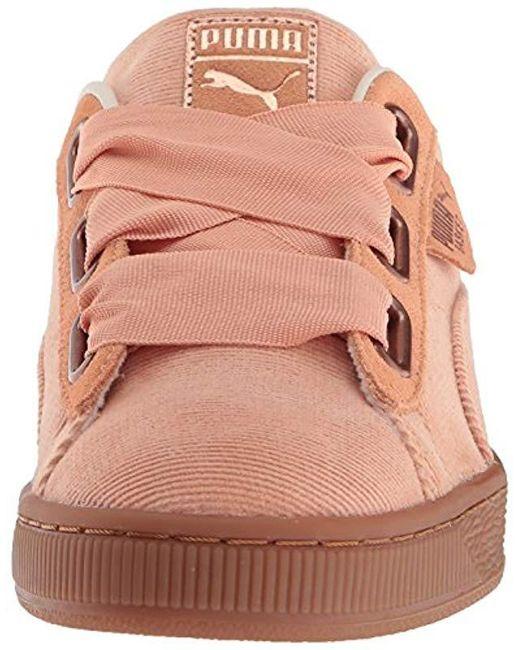 promo code d73d3 b8f38 Women's Pink Basket Heart Corduroy Sneaker
