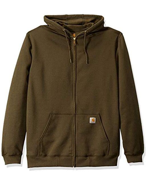 03397c625 Men's Green Big & Tall Midweight Zip Front Hooded Sweatshirt K122