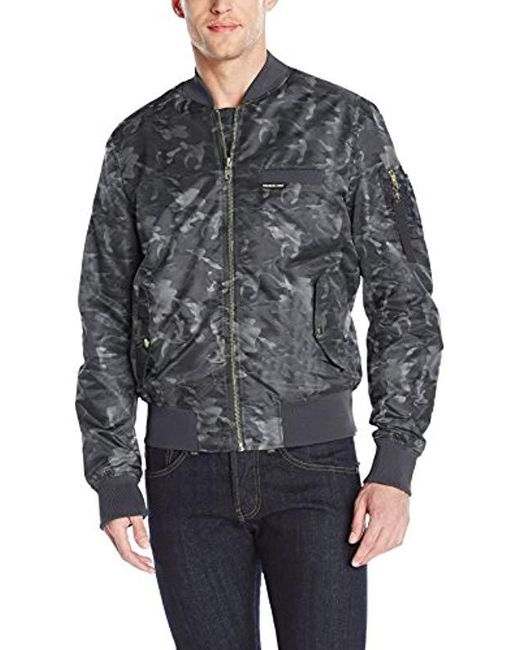 Members Only Gray Ma-1 Bomber Jacket for men