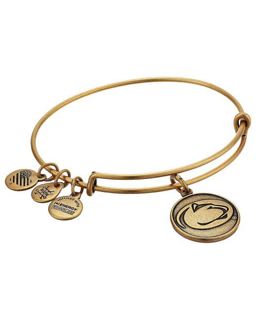 ALEX AND ANI Metallic Pennsylvania State University Mascot Charm Bangle Bracelet