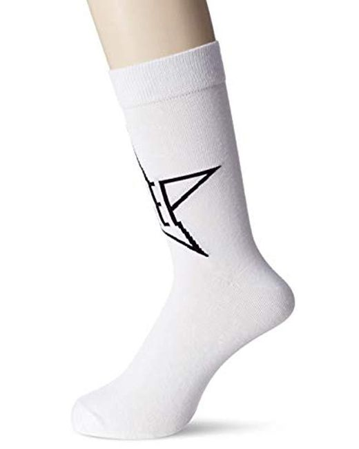 DIESEL White Skm-ray Socks for men