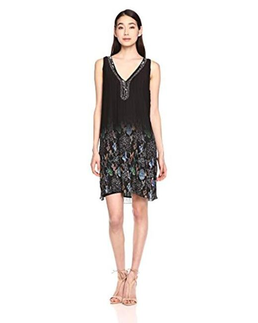 Desigual - Black Sophia Woven Sleeveless Dress - Lyst