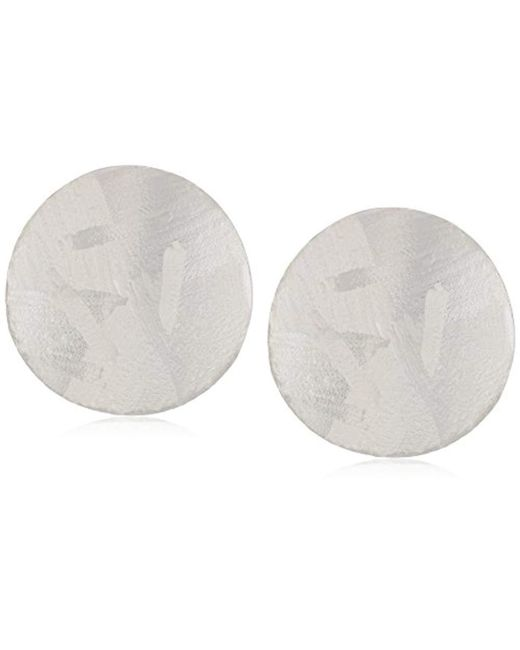 Chan Luu - Metallic S Silver Circle Earrings, One Size - Lyst