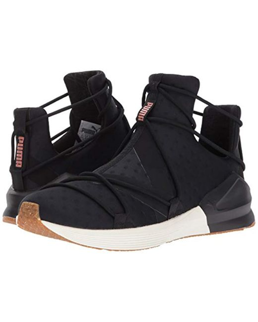 f3d736fddf36 ... Lyst PUMA - Black Women s Fierce Rope Velvet Rope Casual Athletic  Sneakers From Finish Line ...