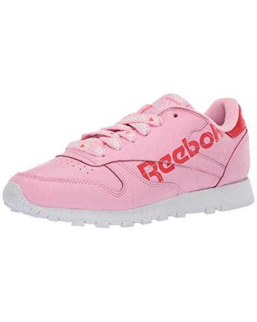 Reebok Classic Leather Sneaker (women) in Pink Lyst