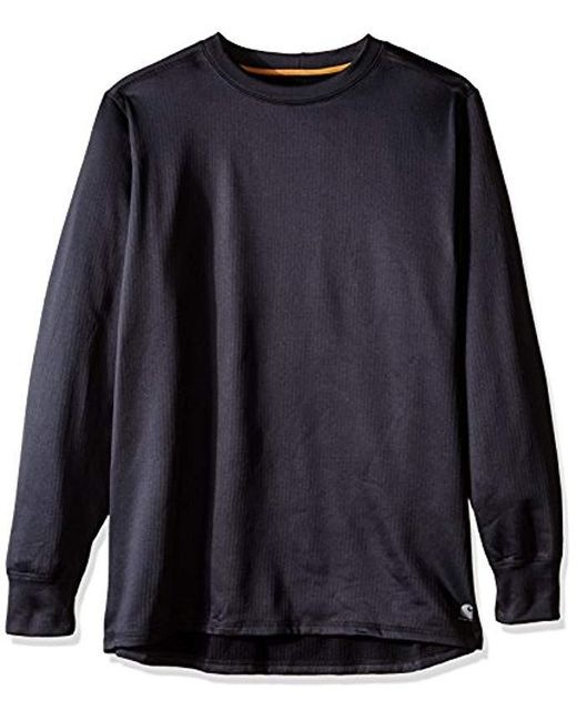 Carhartt - Black Big & Tall Base Force Extremes Super-cold Weather Crew Neck Sweatshirt for Men - Lyst
