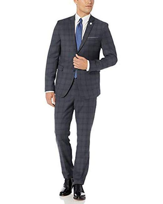 Original Penguin Blue Two Piece Suit for men