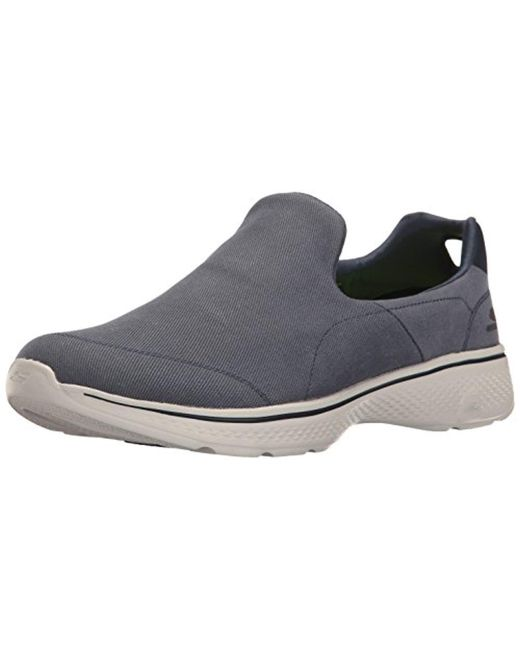 Skechers - Gray Performance Go Walk 4 Magnificent Walking Shoe for Men - Lyst ...