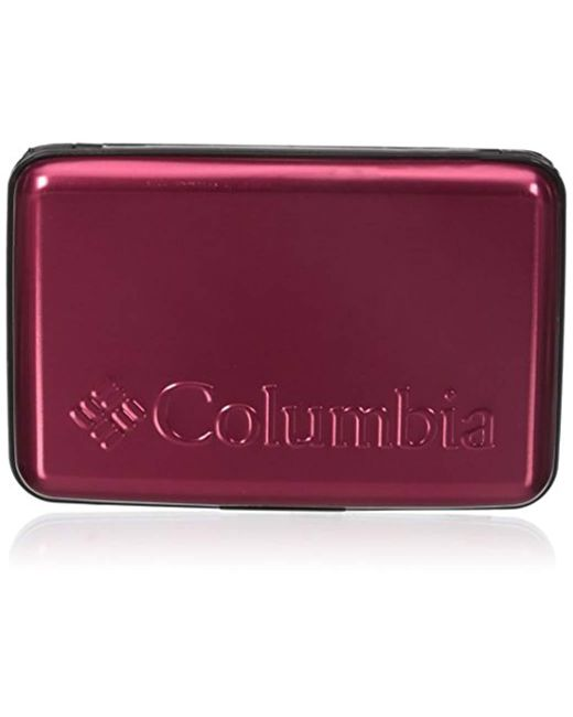 Columbia - Red Rfid Blocking Hardcase Security Wallet for Men - Lyst