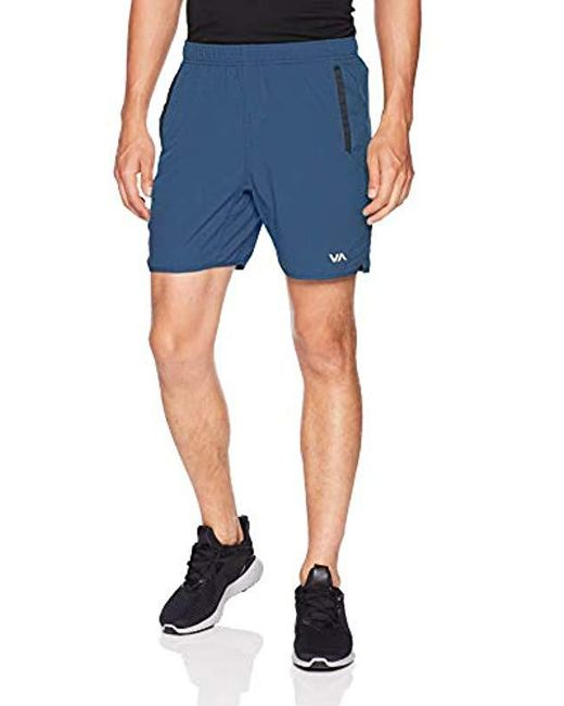 RVCA - Blue Yogger Short for Men - Lyst