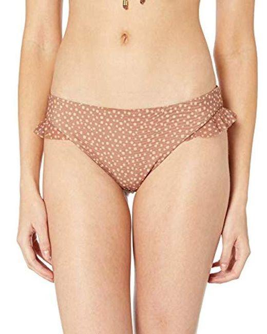 Ella Moss Natural Ruffle Side Swimsuit Bikini Bottom