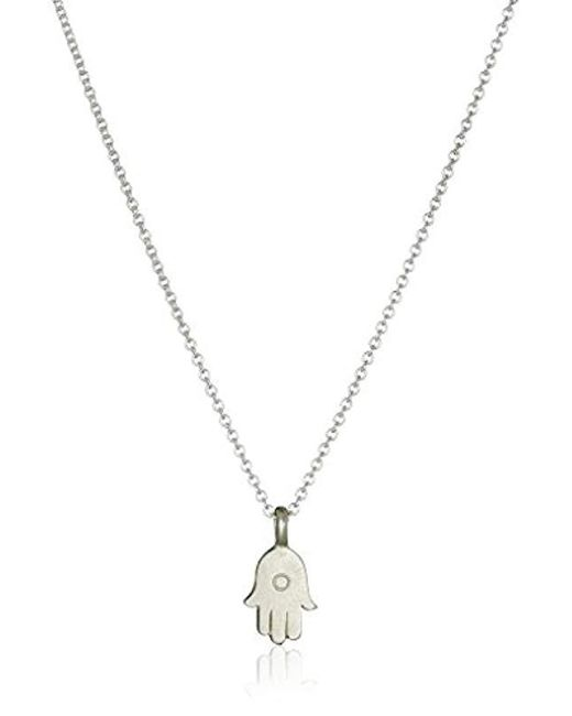 "Dogeared - Metallic All Is Well-hamsa Necklace, 16"" - Lyst"
