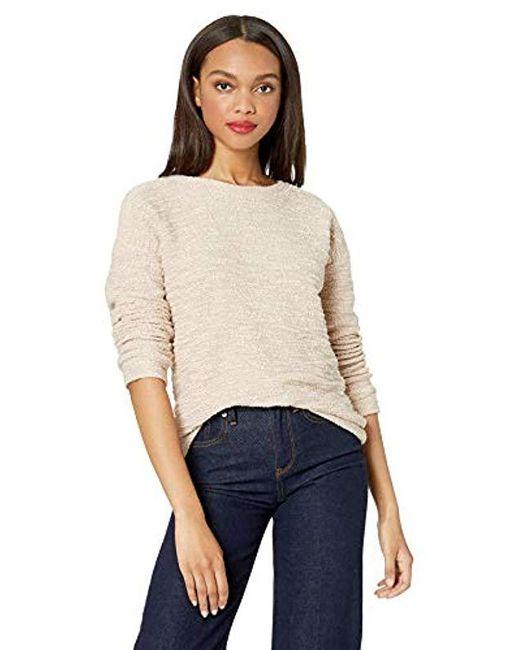 Calvin Klein Natural Boucle Long Sleeve Crewneck Pullover