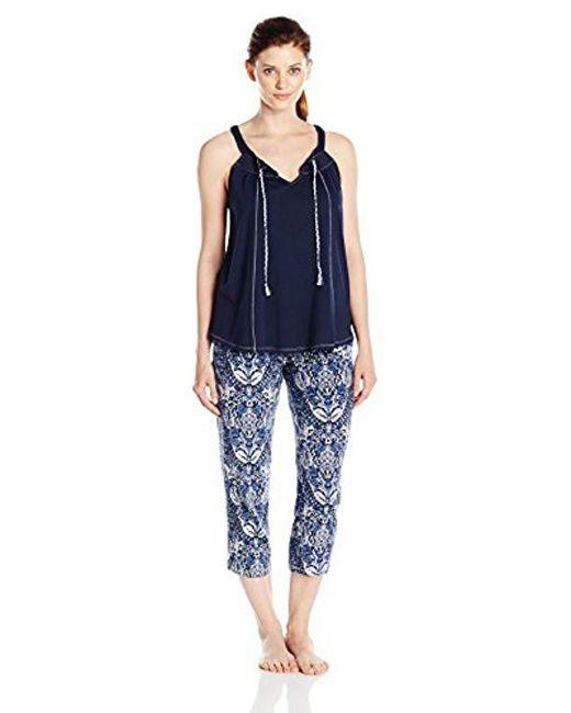 Lucky Brand - Blue Tank Pajama Set - Lyst