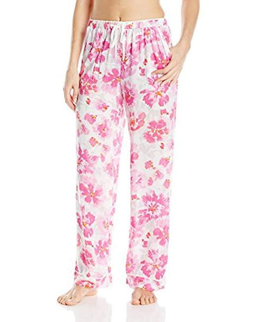 Kensie Pink Printed Pajama Pant