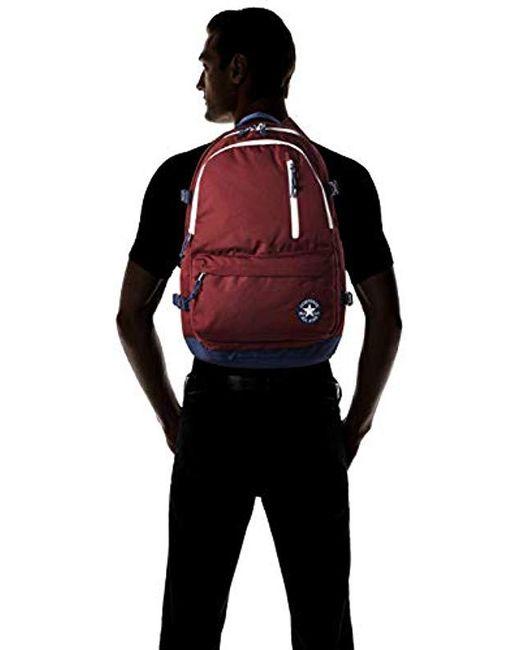 ... Converse - Red Straight Edge Backpack Backpack for Men - Lyst 159f4ef4fde10