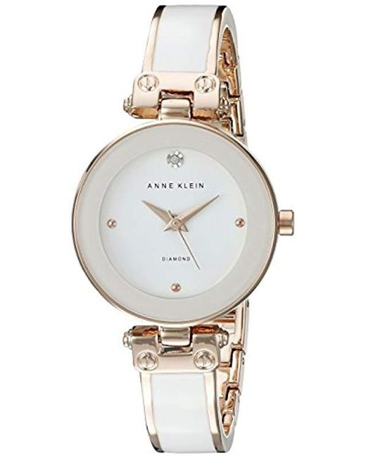 45037e0de Anne Klein Diamond-accented Bangle Watch in Metallic - Save 24% - Lyst