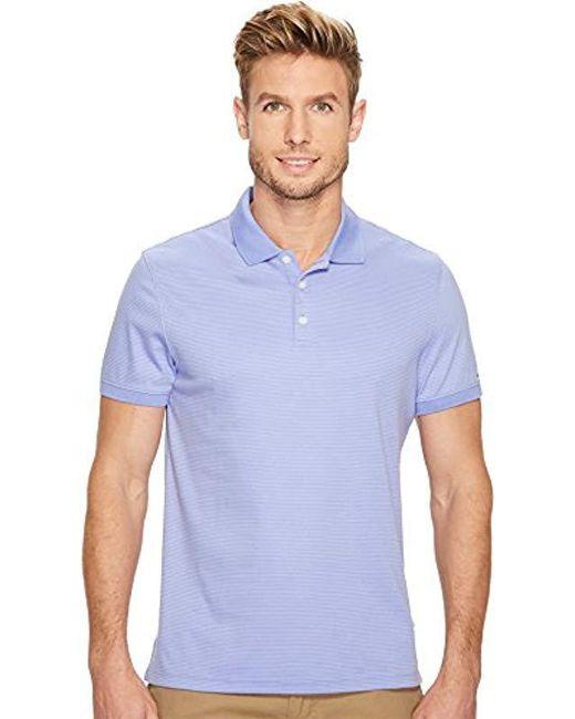 Calvin Klein - Blue Cotton Liquid Touch Polo Shirt for Men - Lyst