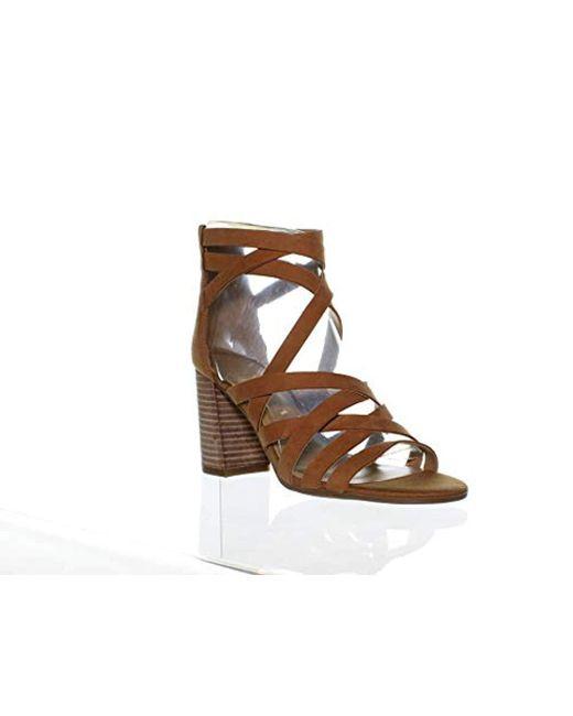 Franco Sarto - Multicolor Madrid Criss-cross Strappy Sandals - Lyst