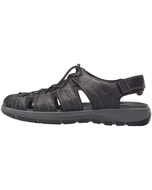 476b5833b58 Lyst - Clarks Brixby Cove Fisherman Sandal in Black for Men - Save 63%