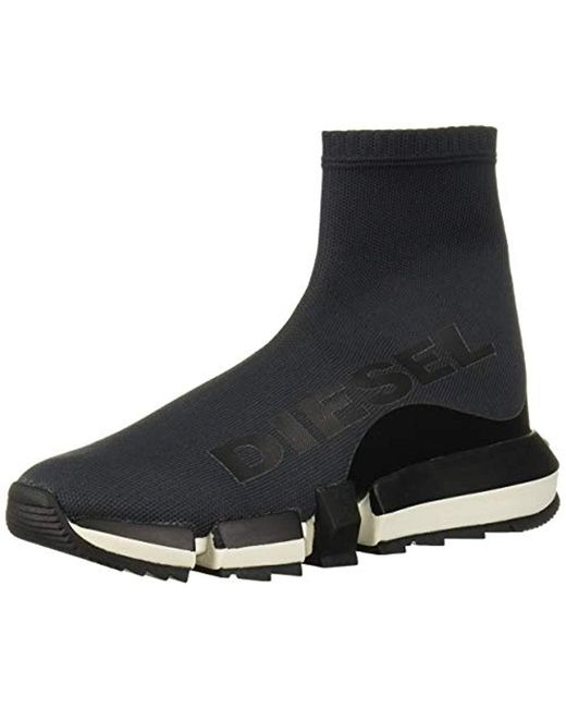 DIESEL Black H-padola High Sock W-sneaker Mid