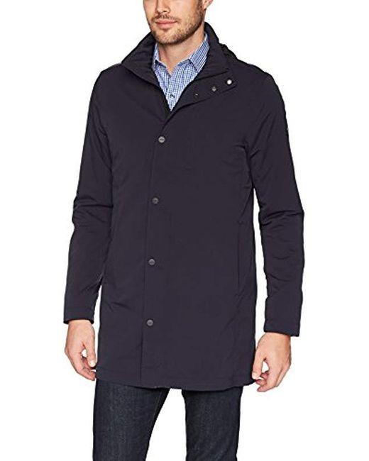 J.Lindeberg Blue Tech Nylon Coat for men