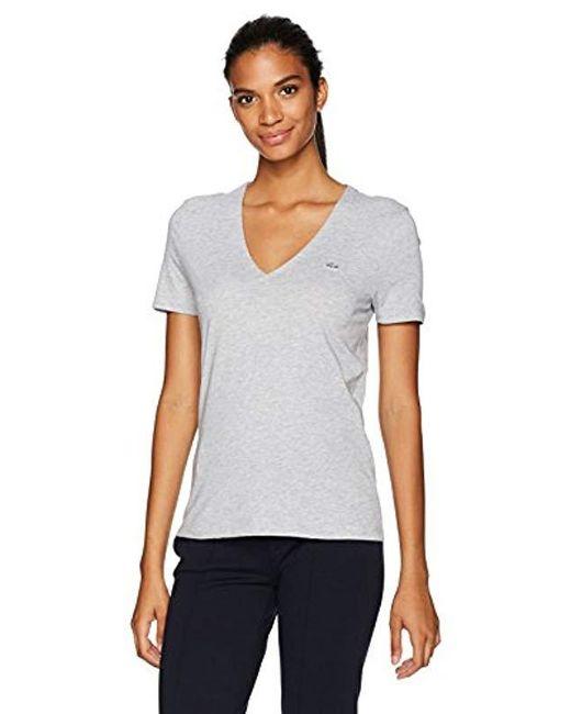 e8d75f46 Lacoste - Multicolor Short Sleeve Classic Supple Jersey V-neck T-shirt -  Lyst ...