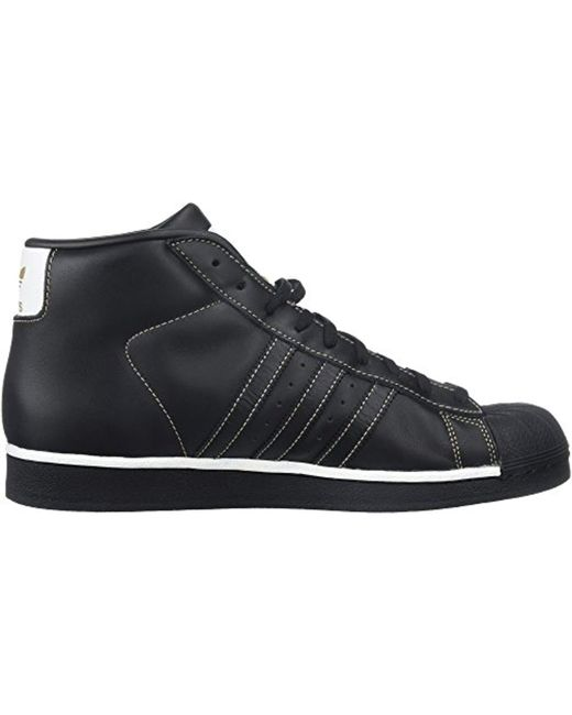 abb016309d3 ... Adidas Originals - Pro Model Running Shoe Black white tactile Gold 5.5  Medium Us ...
