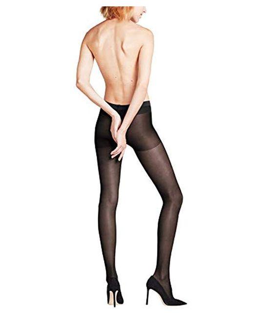 Falke Black Leg Vitalizer 20 Sheer Compression Tight