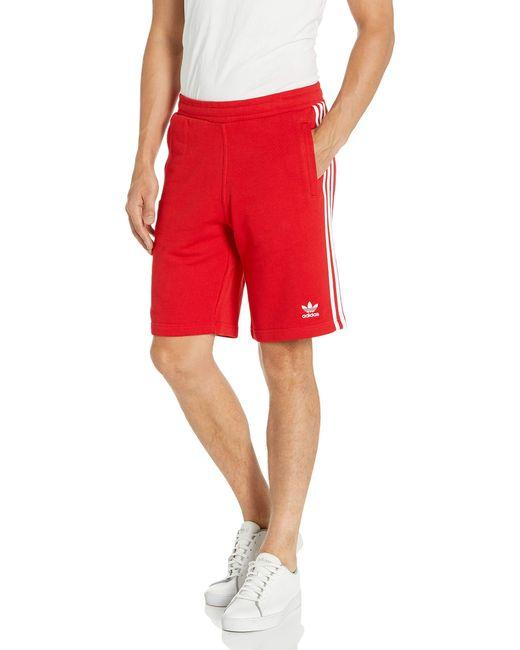 Adidas Originals Red 3-stripes Shorts Shorts for men