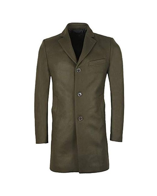 J.Lindeberg Green Wolger Compact Melton Coat for men