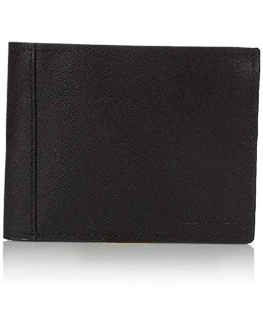 Calvin Klein - Black Saffiano Billfold for Men - Lyst